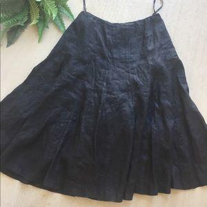 Lauren Ralph Lauren black midi skirt sz 6